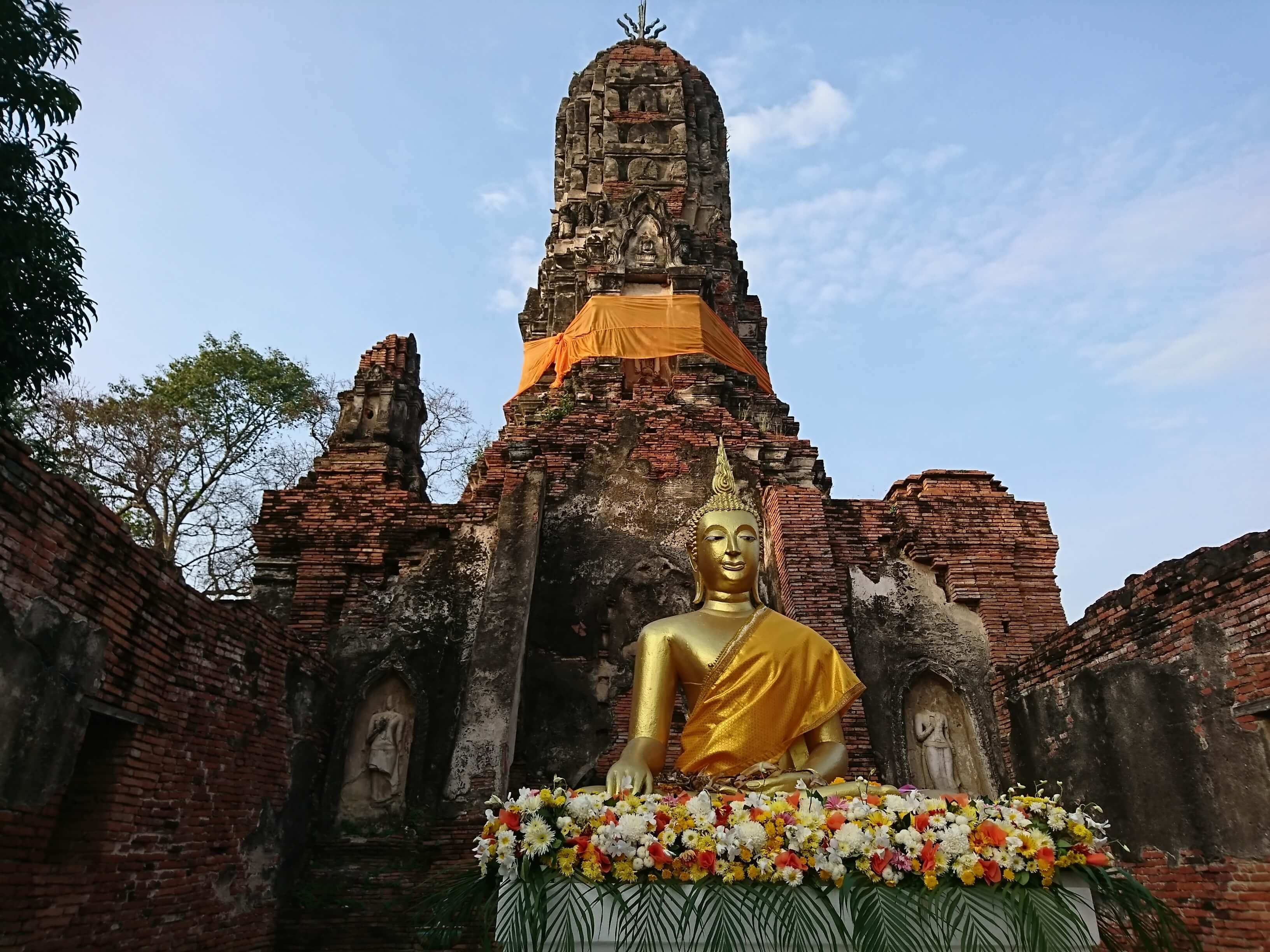ワットチュンター(Wat Choeng Tha)/ 礼拝堂の壁画は必見!民間伝承も残る現存寺院遺跡!