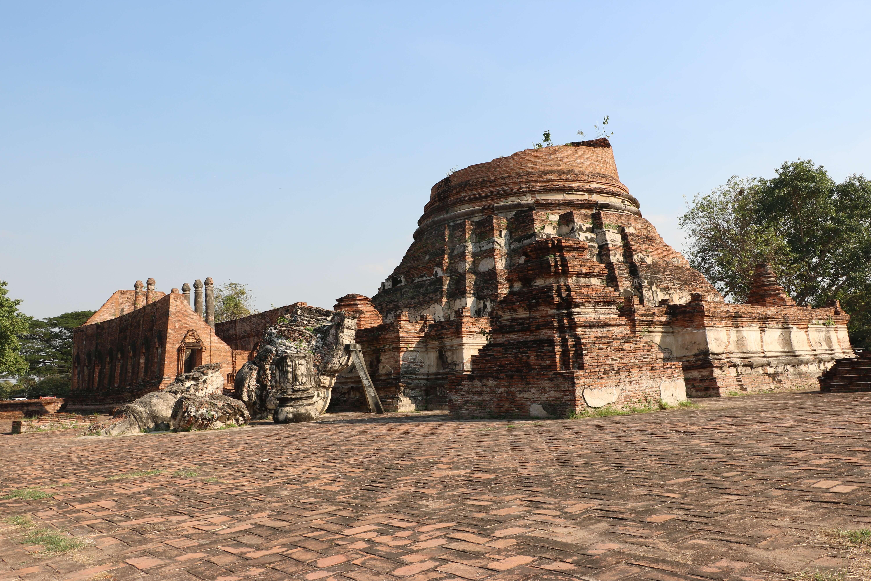 ワット クディーダオ / アユタヤ遺跡では珍しいスリランカ様式の仏塔など、スケールの大きな仏教遺跡