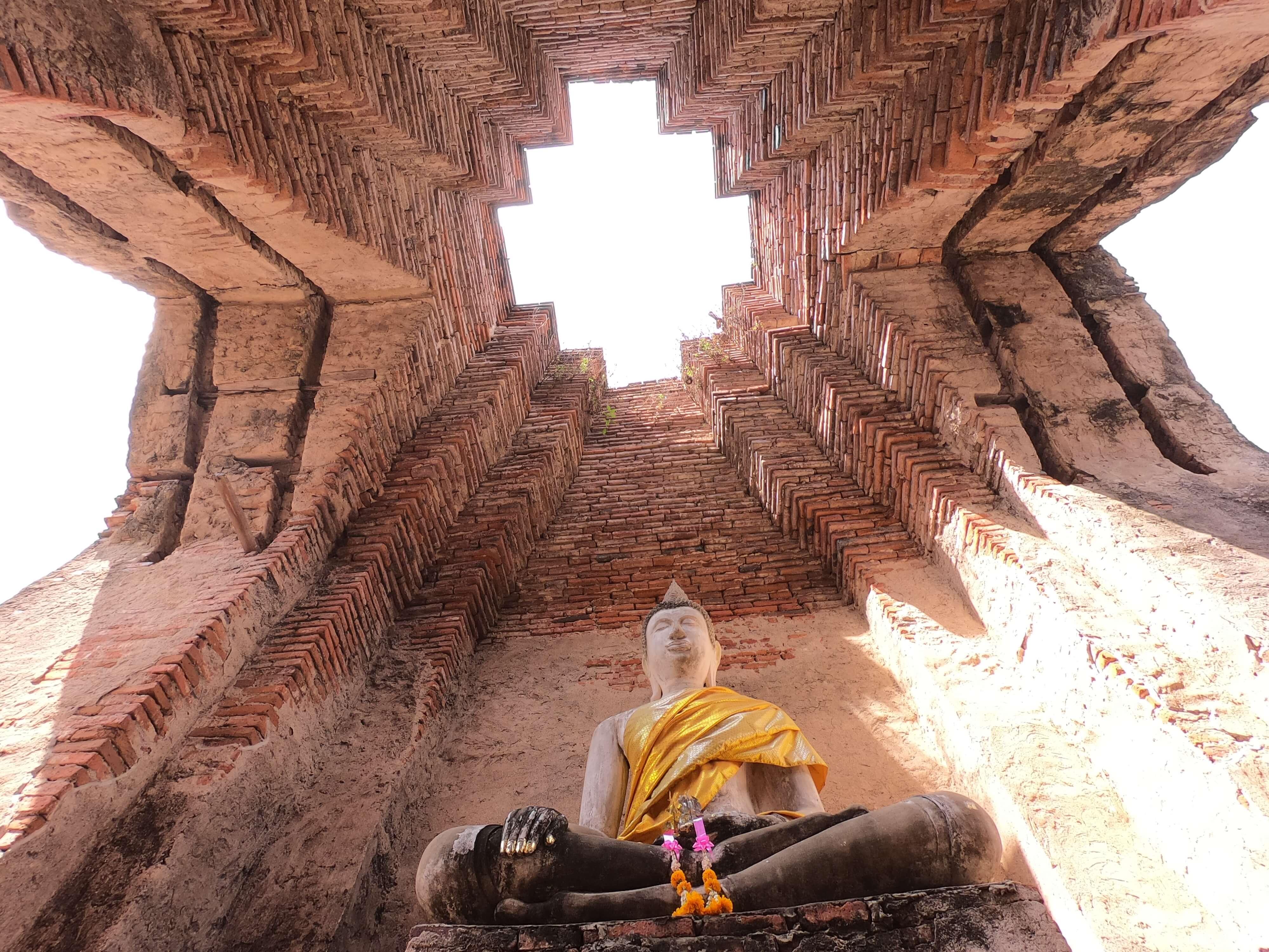プラサート ナコンルアン/ アユタヤでは非常に珍しい階層構造を持つ、お城の遺跡