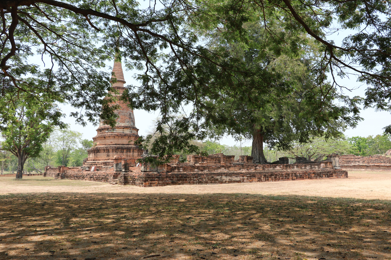 ワットジャオプラッ(Wat Chao Prab)/ アユタヤ周回道路沿いにあり、広大な敷地を持ち、見どころの多い仏教寺院遺跡