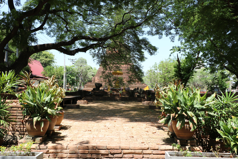 ワットスワンチェーディー(Wat Suwan Chedi)/ 大学の敷地内にあり、許可なしでは見ることができない仏教寺院遺跡