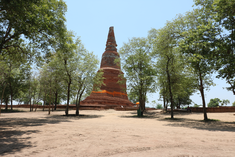 ワットクラッサイ(Wat Krasai)/ アユタヤ王朝滅亡時、ビルマ軍の前線基地になっていた仏教寺院遺跡