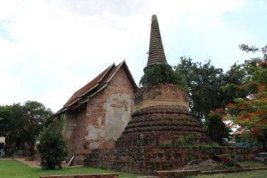 ワットサモンコッタラム(Wat Samon Kottharam , วัดสมณโกฏฐาราม)/ アユタヤ王朝初期から続き、美しいメインチェーディー(仏塔)や多くの遺跡が残る現存仏教寺院