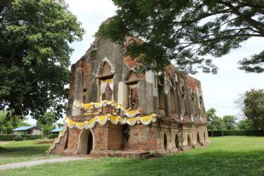 プラータムナックカムヤート(พระตำหนักคำหยาด・Phra Tamnak Khamyad)/ アントーン県にあるアユタヤ王朝後期に建立された王族用の住居遺跡