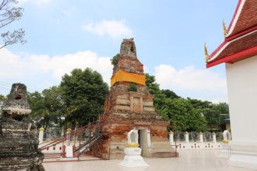 ワットサナームチャイ(วัดสนามไชย・Wat Sanam Chai )/ 宝物庫を備えた珍しいメインチェーディー(仏塔)を持つ、アユタヤ王朝中期に建立された現存寺院
